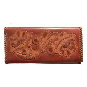 Clifton's Hand Tooled Bi-Fold Wallet